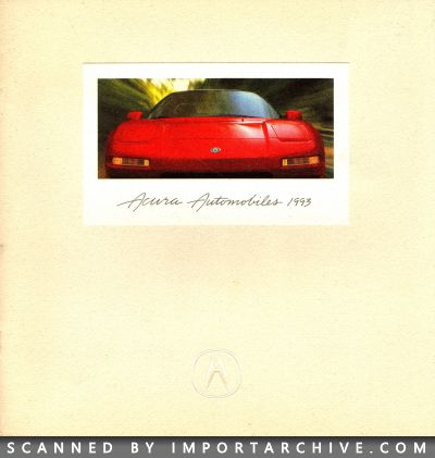 1993 Acura Brochure Cover