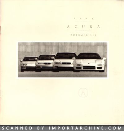 1994 Acura Brochure Cover