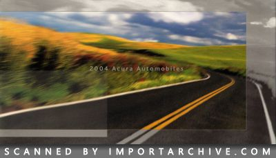2004 Acura Brochure Cover