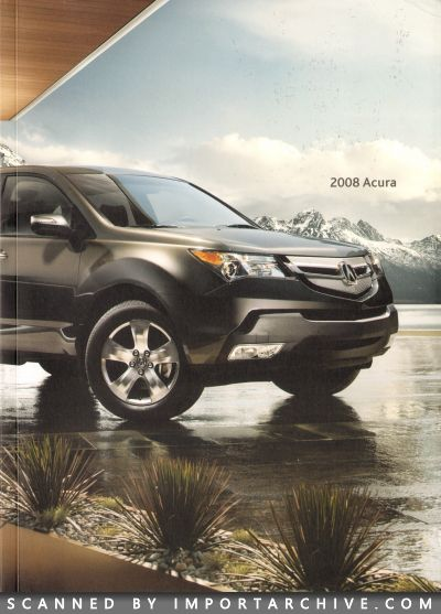 2008 Acura Brochure Cover