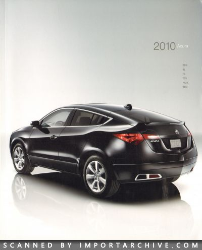 2010 Acura Brochure Cover