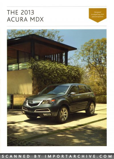 2013 Acura Brochure Cover