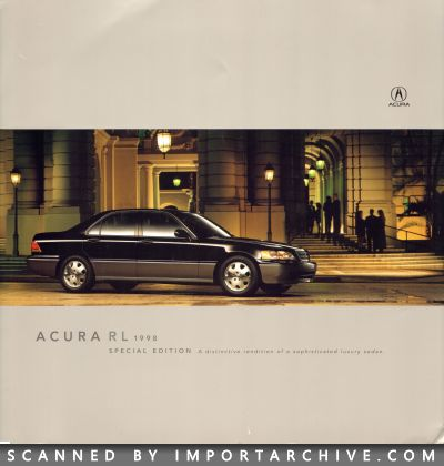 1998 Acura Brochure Cover