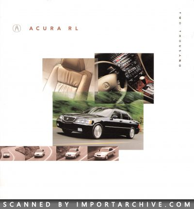2000 Acura Brochure Cover