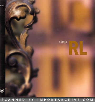 2001 Acura Brochure Cover