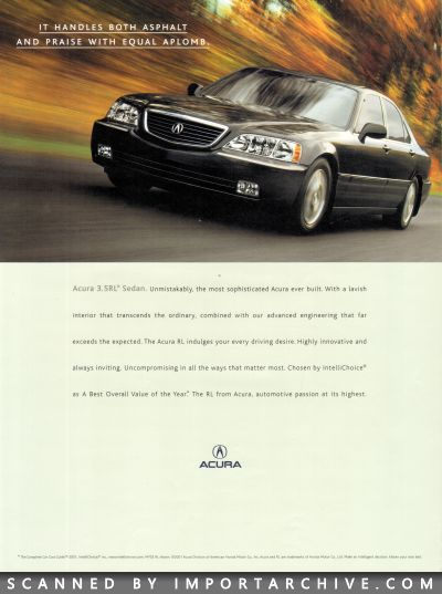 2002 Acura Brochure Cover