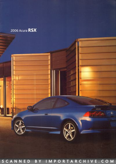 2006 Acura Brochure Cover