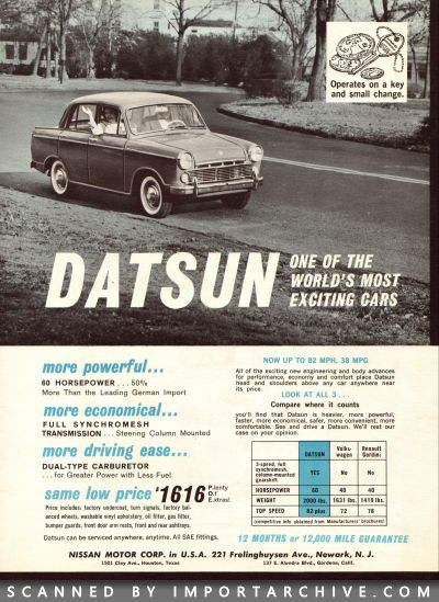 1962 Nissan Brochure Cover