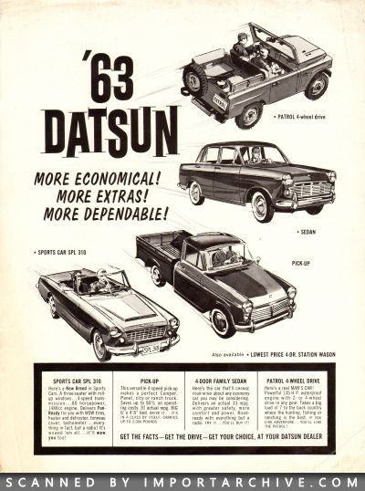 1963 Nissan Brochure Cover