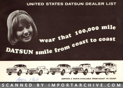 1966 Nissan Brochure Cover