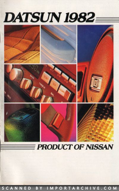 1982 Nissan Brochure Cover