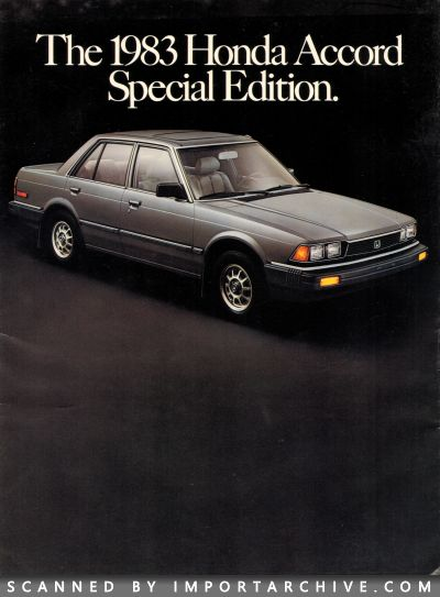 1983 Honda Brochure Cover