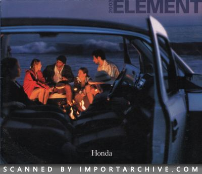 2003 Honda Brochure Cover