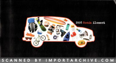 2008 Honda Brochure Cover
