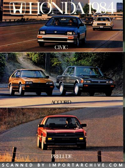 1984 Honda Brochure Cover