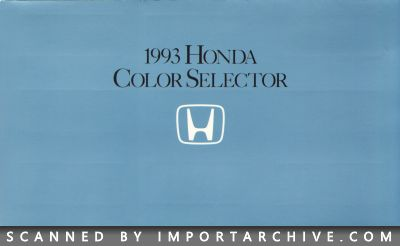 1993 Honda Brochure Cover