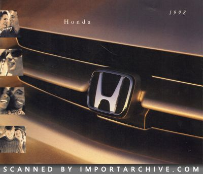 1998 Honda Brochure Cover