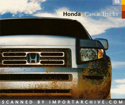 2005 Honda Brochure Cover