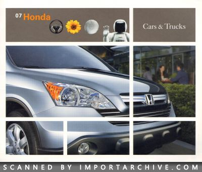 2007 Honda Brochure Cover