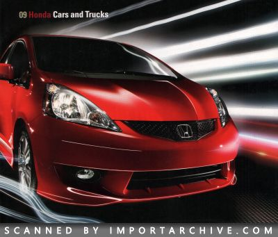 2009 Honda Brochure Cover