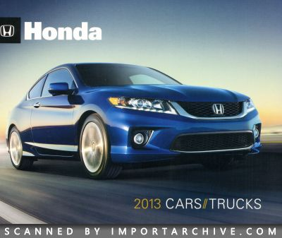 2013 Honda Brochure Cover