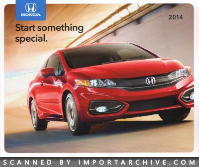 2014 Honda Brochure Cover