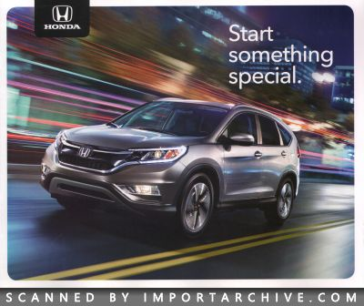 2015 Honda Brochure Cover