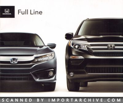 2016 Honda Brochure Cover