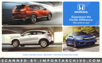 2017 Honda Brochure Cover