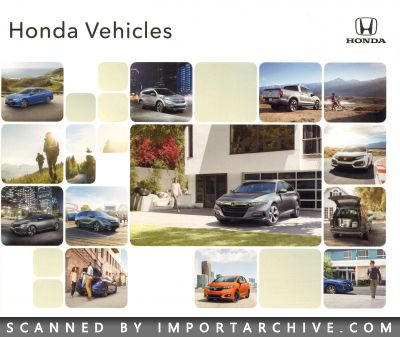 2018 Honda Brochure Cover