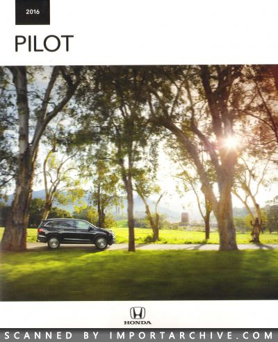 2016 Honda Brochure Cover Pilot