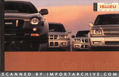 2001 Isuzu Brochure Cover