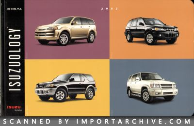 2002 Isuzu Brochure Cover