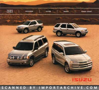 2003 Isuzu Brochure Cover