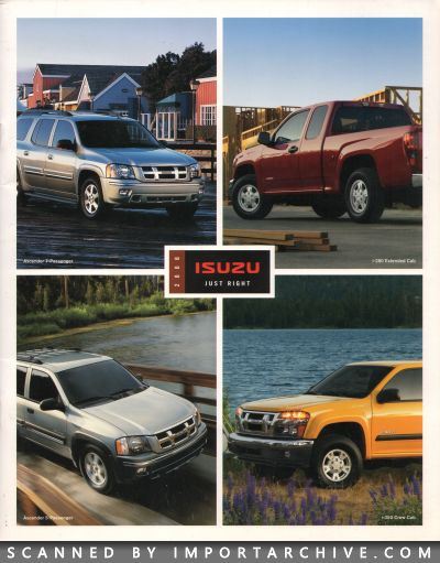 2006 Isuzu Brochure Cover