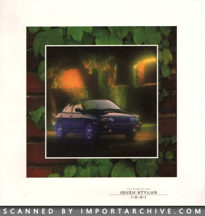1991 Isuzu Brochure Cover