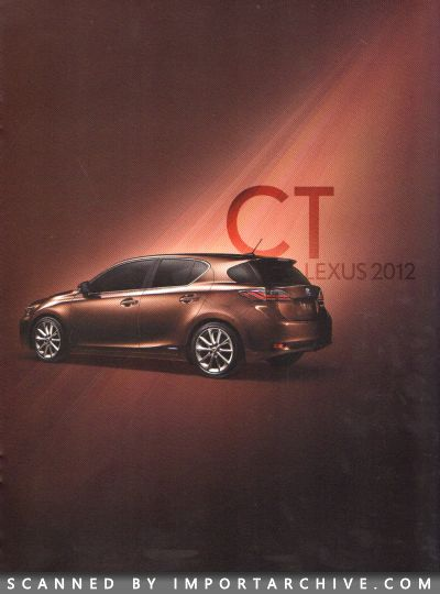 2012 Lexus Brochure Cover