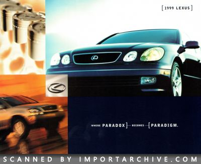1999 Lexus Brochure Cover