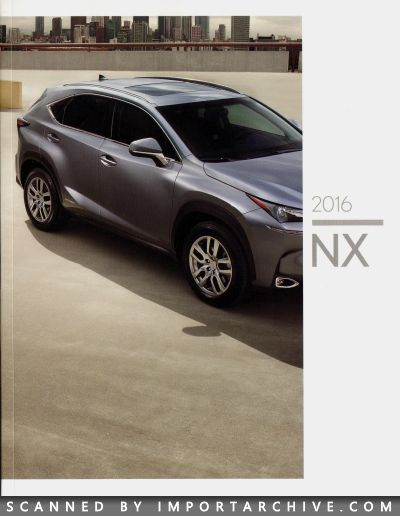 2016 Lexus Brochure Cover