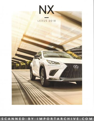2018 Lexus Brochure Cover