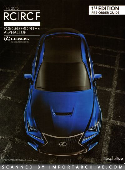 2015 Lexus Brochure Cover