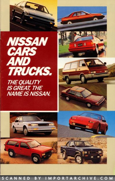 1987 Nissan Brochure Cover