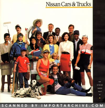 1989 Nissan Brochure Cover