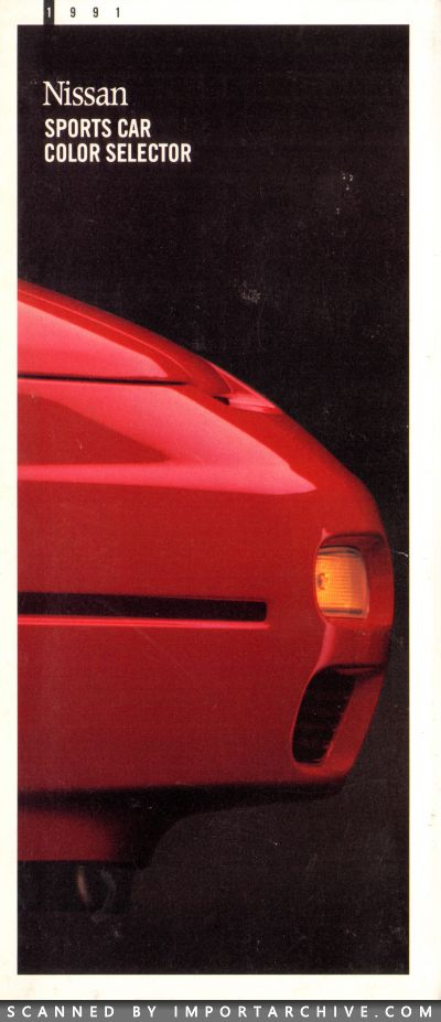 1991 Nissan Brochure Cover