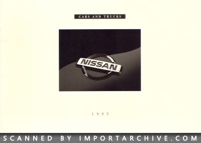 1993 Nissan Brochure Cover
