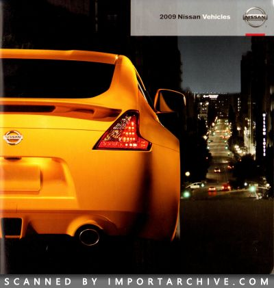2009 Nissan Brochure Cover