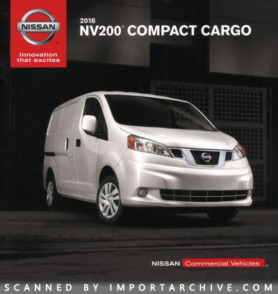 2016 Nissan Brochure Cover