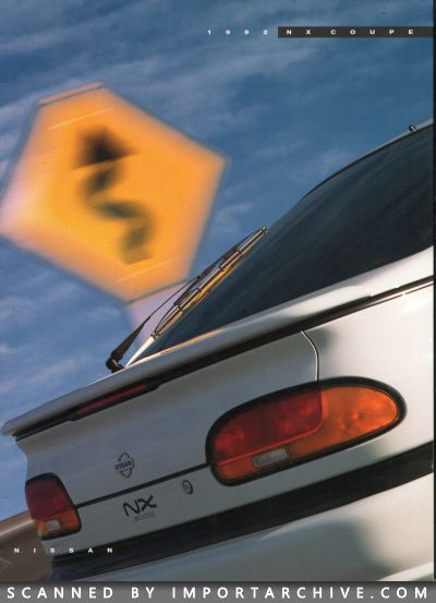 1992 Nissan Brochure Cover