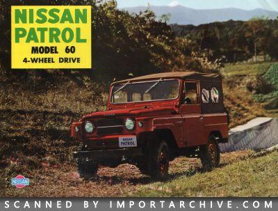 1960 Nissan Brochure Cover