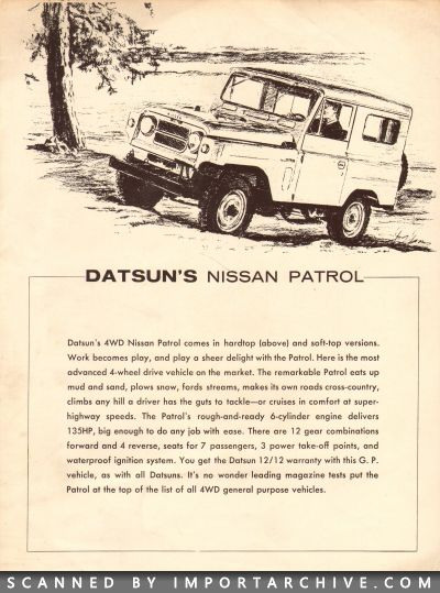 1964 Nissan Brochure Cover